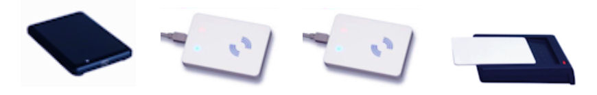 USB-läsare: UHF EPC 868 MHz - MIFARE 13,56 MHz - ISO 15693 13,56 MHz - 125 kHz
