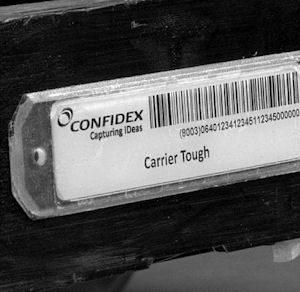 Industriella taggar & etiketter  - ej för montering på metall