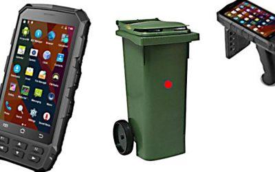 Läsare & handdator för RFID på soptunnor